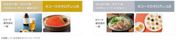 オリックスの株主優待(カタログギフト)